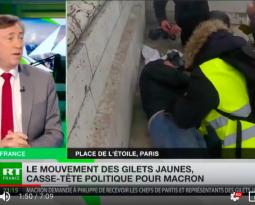 [ Vidéo ] Bernard Monot invité de RT France pour soutenir les gilets jaunes.