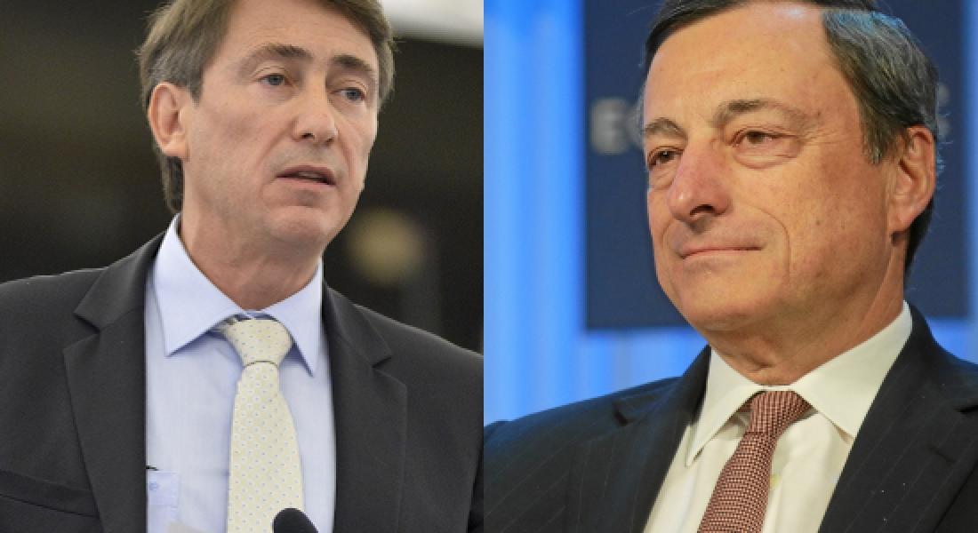 Question à Mario Draghi de Bernard Monot au sujet de la BCE