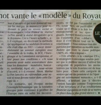 Bernard Monot dans le Figaro