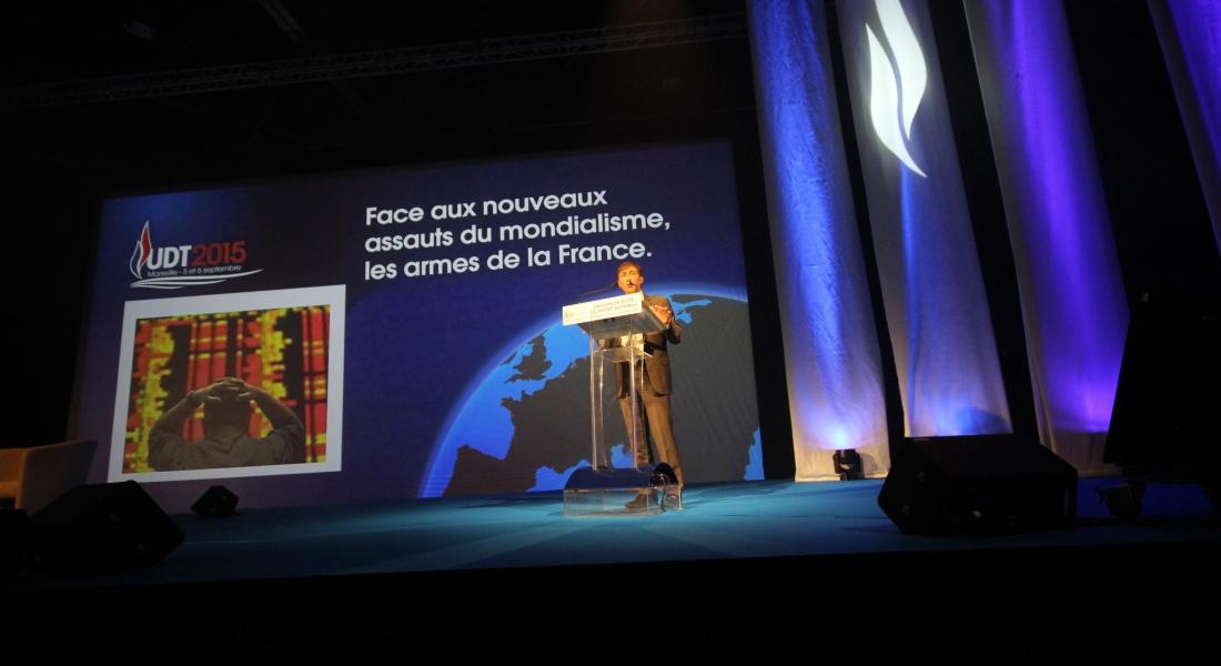 Présentation économique lors de l'UDT 2015 du Front national