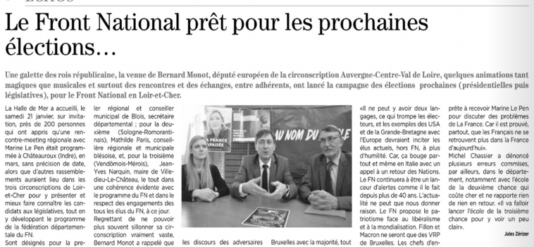 [ Presse ] Le Front National prêt pour les prochaines élections